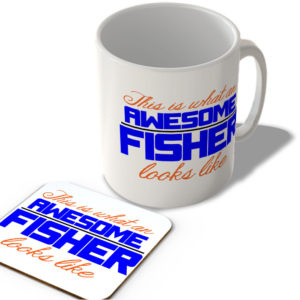 This Is What An Awesome Fisher Looks Like – Mug and Coaster Set