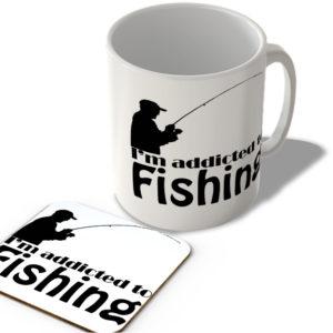 I'm Addicted To Fishing – Mug and Coaster Set