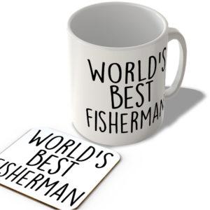 World's Best Fisherman – Mug and Coaster Set