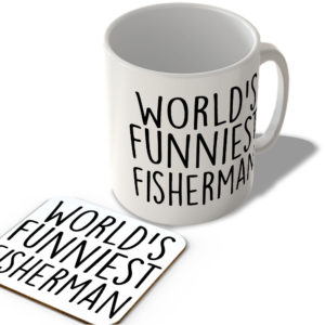World's Funniest Fisherman – Mug and Coaster Set