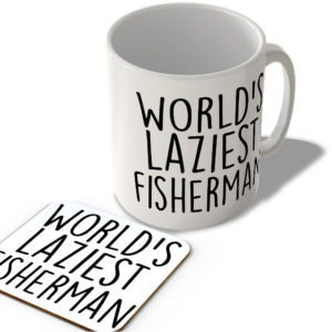 World's Laziest Fisherman – Mug and Coaster Set