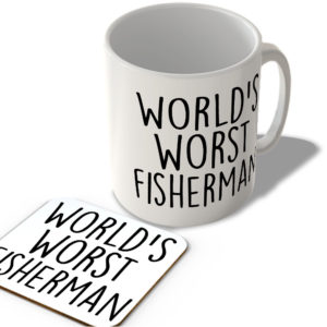 World's Worst Fisherman – Mug and Coaster Set