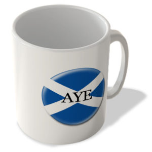 Aye Flag – Scottish Politics Mug