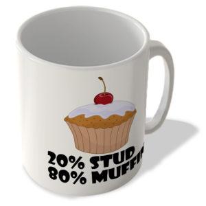 20% Stud 80% Muffin – Mug