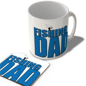 Fishing Dad – Mug and Coaster Set