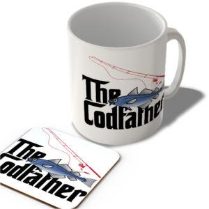 The Codfather (White Background) – The Godfather – Mug and Coaster Set