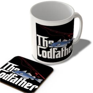 The Codfather (Black Rectangle Background) – The Godfather – Mug and Coaster Set