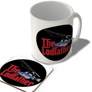 The Codfather (Black Circle Background) – The Godfather – Mug and Coaster Set
