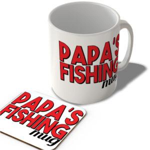 Papa's Fishing Mug – Mug and Coaster Set