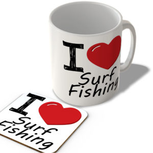 I Love Surf Fishing – Mug and Coaster Set