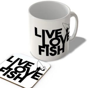 Live Love Fish – Mug and Coaster Set