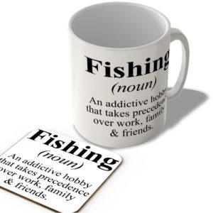 Fishing Definition – Mug and Coaster Set