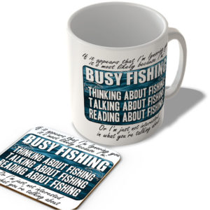 Busy Fishing – Mug and Coaster Set