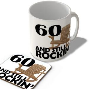60 And Still Rockin' – Mug and Coaster Set