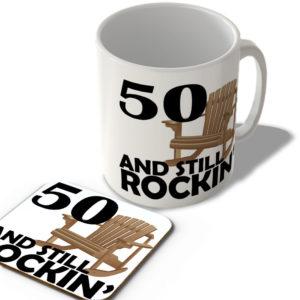 50 And Still Rockin' – Mug and Coaster Set