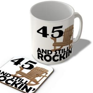45 And Still Rockin' – Mug and Coaster Set