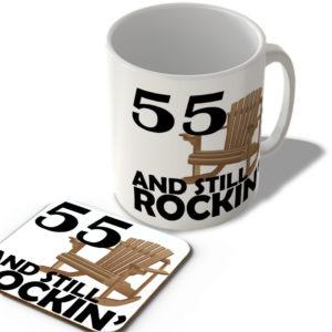 55 And Still Rockin' – Mug and Coaster Set
