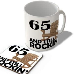 65 And Still Rockin' – Mug and Coaster Set