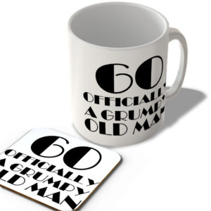 60 Officially A Grumpy Old Man – Mug and Coaster Set
