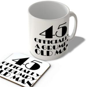 45 Officially A Grumpy Old Man – Mug and Coaster Set