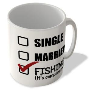 Single – Married – Fishing (It's Complicated) – Mug