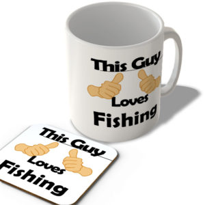 This Guy Loves Fishing – Mug and Coaster Set
