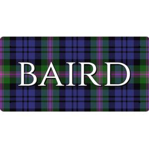 Baird (Baird Modern Tartan) – Metal Sign