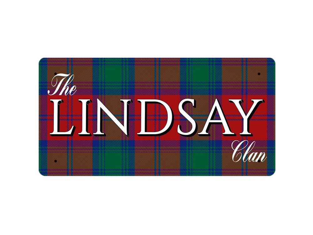 WP/_CLAN/_182 The LINDSAY Clan Lindsay Modern Tartan Metal Wall Plate