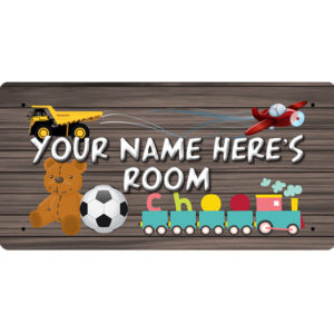 """""""Your Name Here's Room"""" – Metal Sign"""