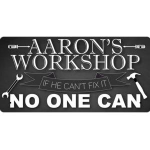 Aaron's Workshop – Metal Sign